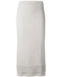 Falda midi de lana