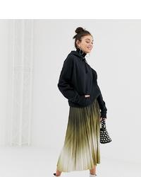 Falda midi efecto teñido anudado en multicolor