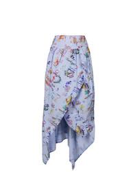 Falda midi estampada celeste de Vivienne Westwood Anglomania