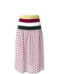 Falda midi estampada en multicolor de Marni