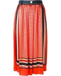 Falda midi estampada roja de MICHAEL Michael Kors