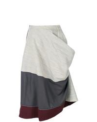 Falda midi gris de Comme Des Garçons Vintage
