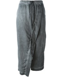 Falda midi gris