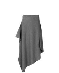 Falda midi gris de JW Anderson