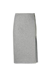 Falda midi gris de Peserico