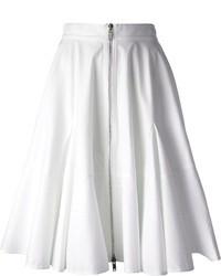 Falda midi plisada blanca de Givenchy