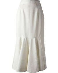 Falda midi plisada blanca de Stella McCartney