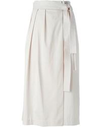 Falda midi plisada en beige de 3.1 Phillip Lim