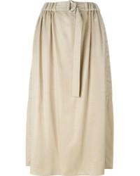 Falda midi plisada en beige de Kenzo