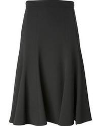 Falda midi plisada en gris oscuro de Dolce & Gabbana