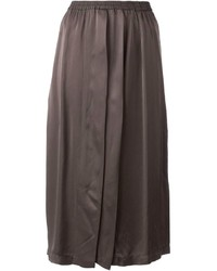 Falda midi plisada en gris oscuro de Ilaria Nistri