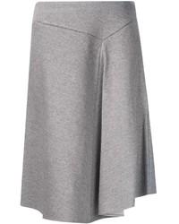 Falda midi plisada gris de ASTRAET