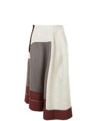 Falda midi plisada gris de Comme Des Garçons Vintage