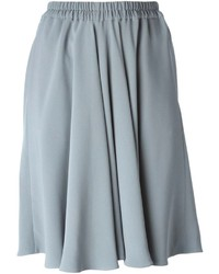 Falda midi plisada gris de Giorgio Armani