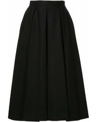 Falda midi plisada negra de Enfold