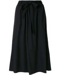 Falda midi plisada negra