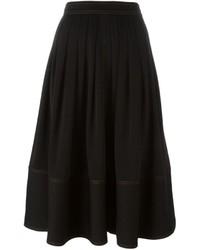 Falda midi plisada negra de Joseph