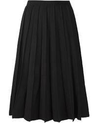 Falda midi plisada negra de Marc Jacobs