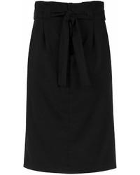 Falda midi plisada negra de Tufi Duek