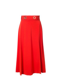 Falda midi plisada roja de Derek Lam 10 Crosby