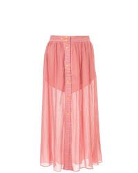 Falda midi plisada rosada de Lalo