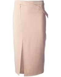 Falda midi rosada de A.L.C.