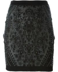 Falda negra de Balmain