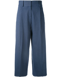 Falda pantalón azul marino de Diane von Furstenberg