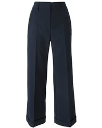 Falda pantalón azul marino de Jil Sander