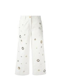Falda pantalón bordada blanca de Kenzo