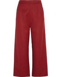 Falda pantalón burdeos