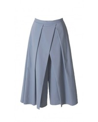 Falda pantalón celeste