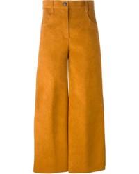 Falda pantalón de ante en tabaco de MSGM