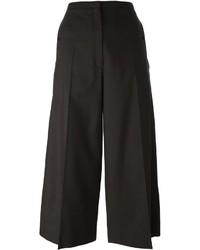 Falda pantalón de lana en marrón oscuro de Lemaire