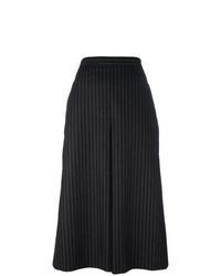 Falda pantalón de rayas verticales en negro y blanco