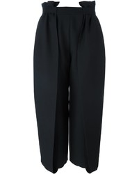 Falda pantalón de seda negra de Fendi
