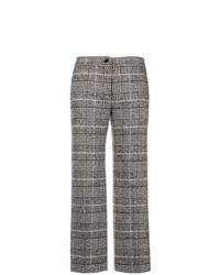 Falda pantalón de tartán gris de Blugirl