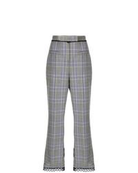 Falda pantalón de tartán gris de MSGM