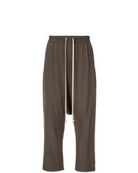 Falda pantalón en marrón oscuro de Rick Owens