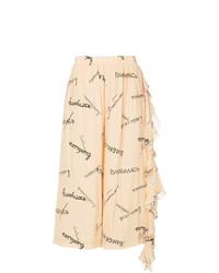 Falda pantalón estampada marrón claro de Natasha Zinko