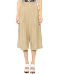 Falda pantalón marrón claro