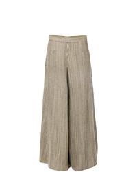 Falda pantalón marrón claro de Forte Forte