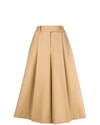 Falda pantalón marrón claro de Jil Sander Navy