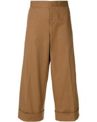 Falda pantalón marrón claro de Marni