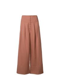 Falda pantalón marrón claro de Ulla Johnson
