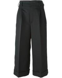 Falda pantalón plisada negra de Golden Goose Deluxe Brand