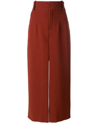 Falda pantalón roja de Chloé