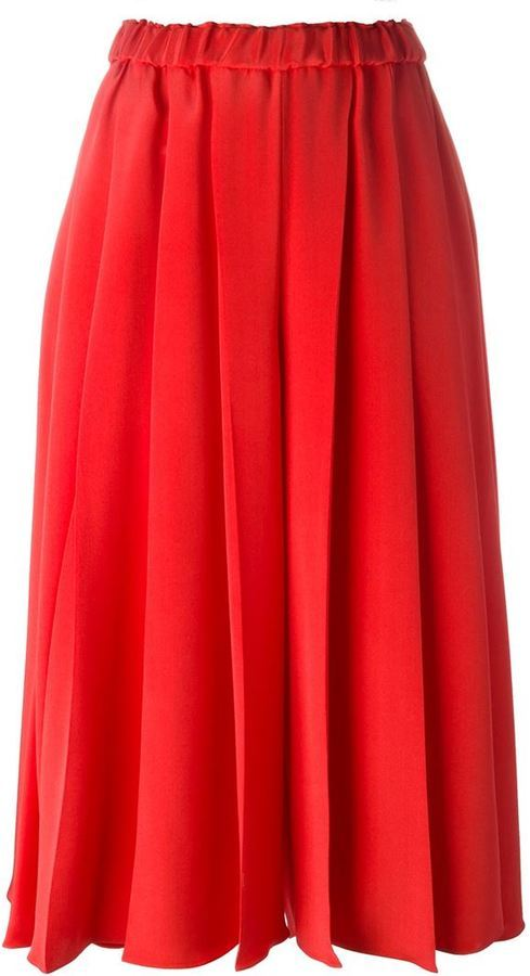 e03f705a3 Falda pantalón roja de Victoria Beckham