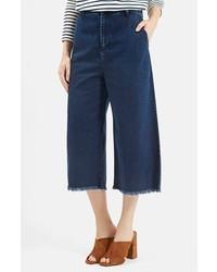 Falda pantalón vaquera azul marino