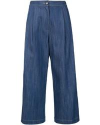 Falda pantalón vaquera azul marino de ADAM by Adam Lippes
